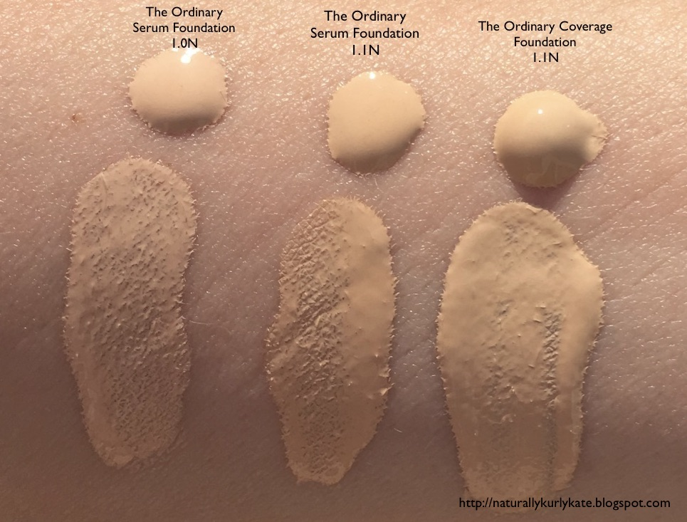 Naturallykurlykate The Ordinary Or Not So Ordinary Serum Foundation And Full Coverage Foundation First Impressions And Comparison Review