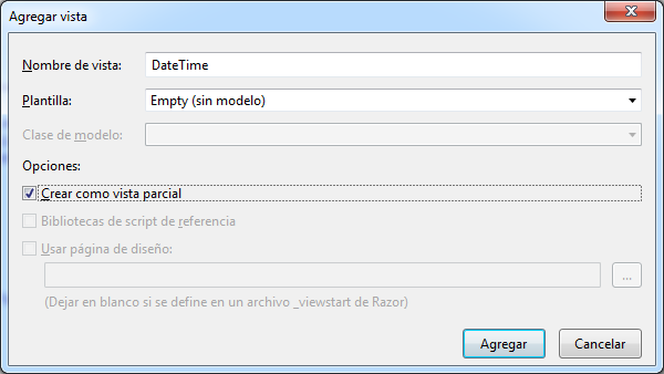 Crear Vista Parcial para editor DateTime
