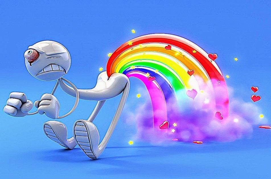 Funny 3D Rainbow Hd Desktop Wallpaper