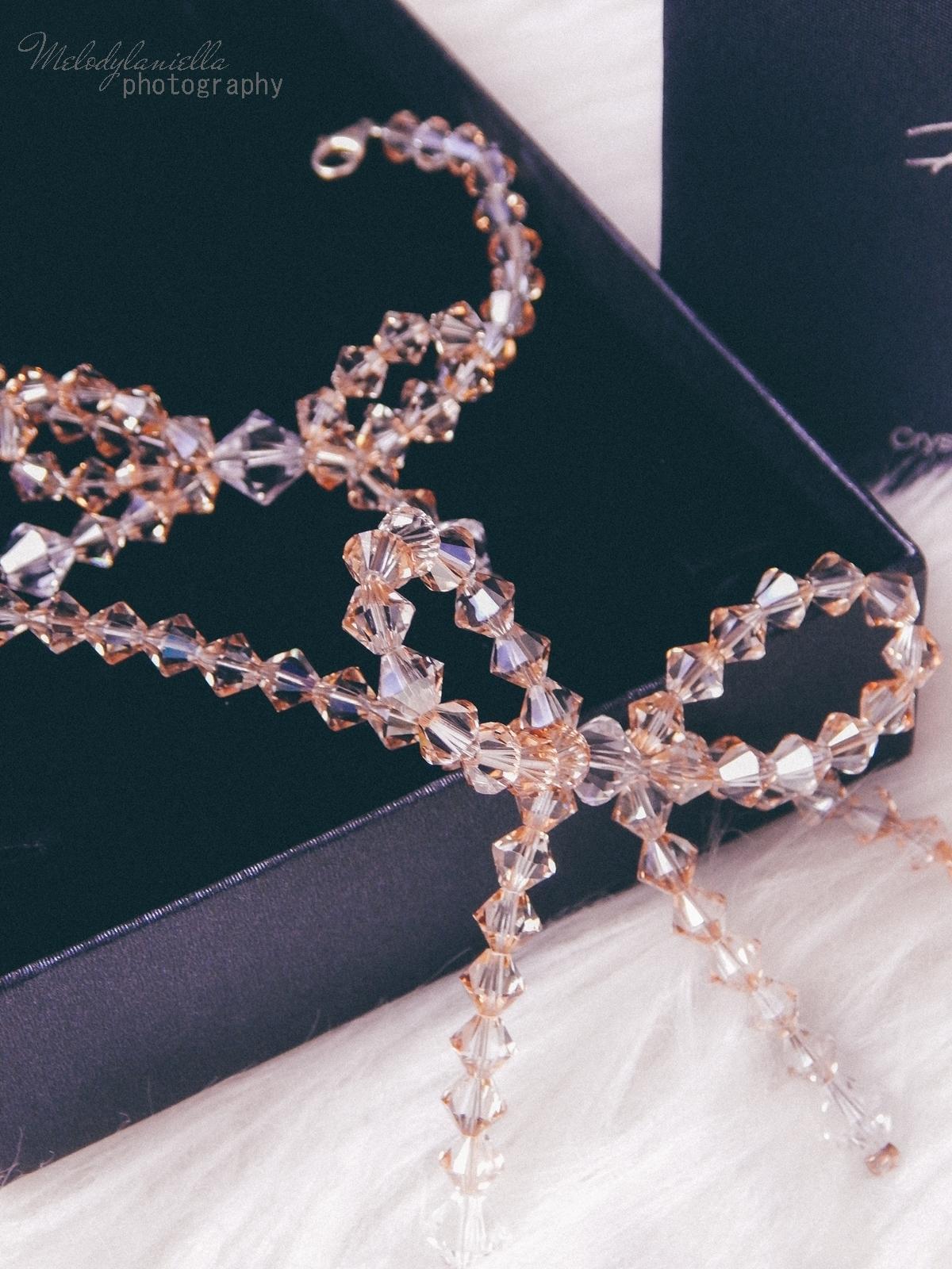 2 biżuteria M piotrowski recenzje kryształy swarovski przegląd opinie recenzje jak dobrać biżuterie modna biżuteria stylowe dodatki kryształy bransoletka z kokardką naszyjnik z kokardą złoto srebro fashion