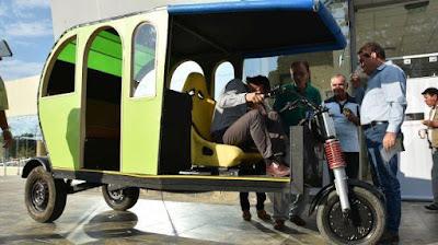 mototaxi que funciona sin combustible