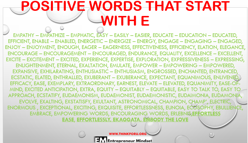 8 letter words starting with ev positive words and phrases it the and best 17027