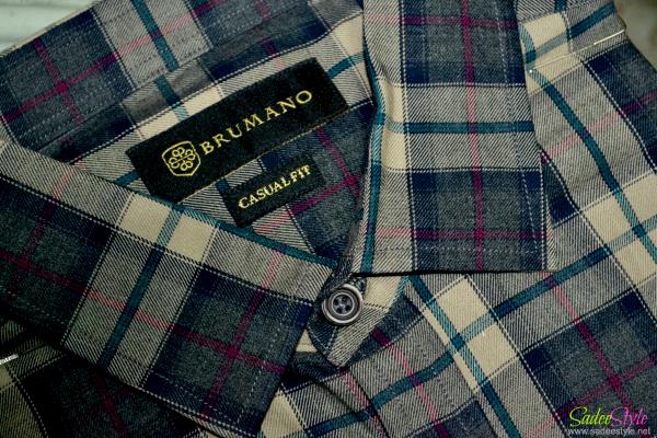Brumano Large Check Shirt Pakinstani men's clothing brand