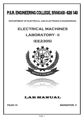 Electrical and Electronics Engineering : EE2305