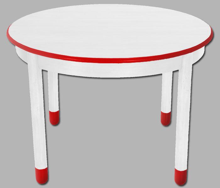 Tavolo tondo allungabile laccato bianco match design for Tavolo tondo design