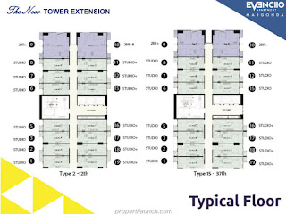 Typical Floor Plan Evenciio Apartment Margonda