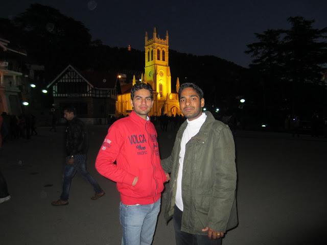 church in night