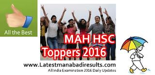 Maharashtra HSC Toppers List 2016,Maharashtra Board 12th Topper 2016,HSC Arts Topper 2016,