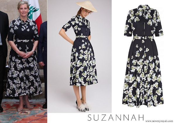 Countess of Wessex wore Suzannah peace lily shirt dress