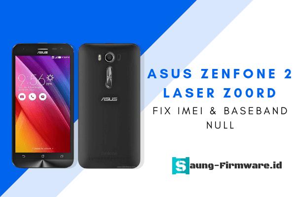 asus zenfone 2 laser z00rd imei null