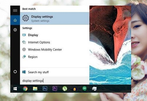 change the font size in Windows 10