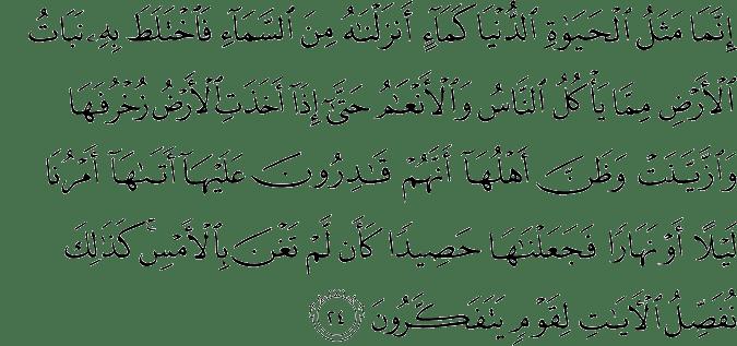 Surat Yunus Ayat 24