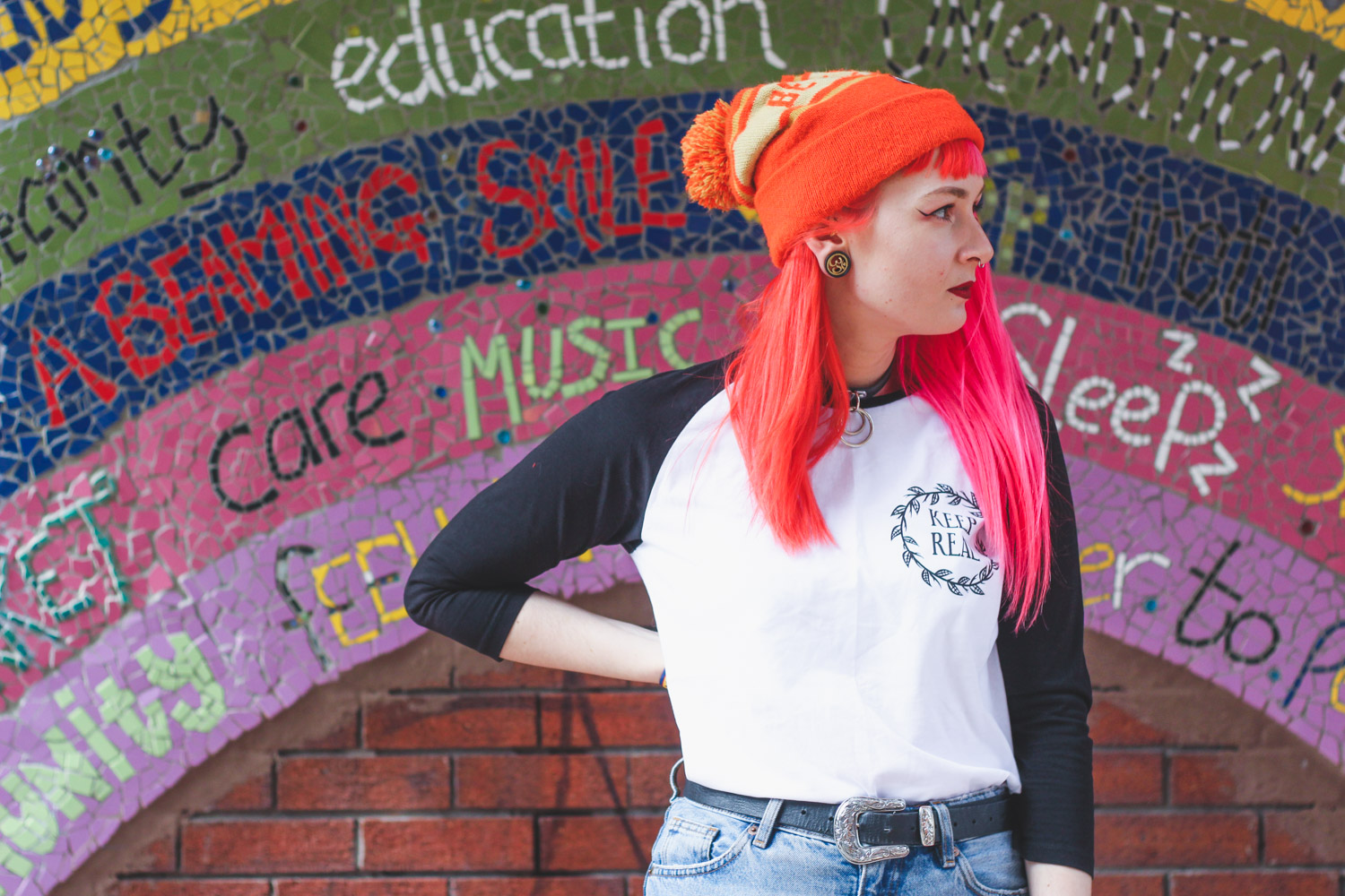Alternative Fashion Blogger Foxxtailz Styles Keep Real Baseball Tshirt