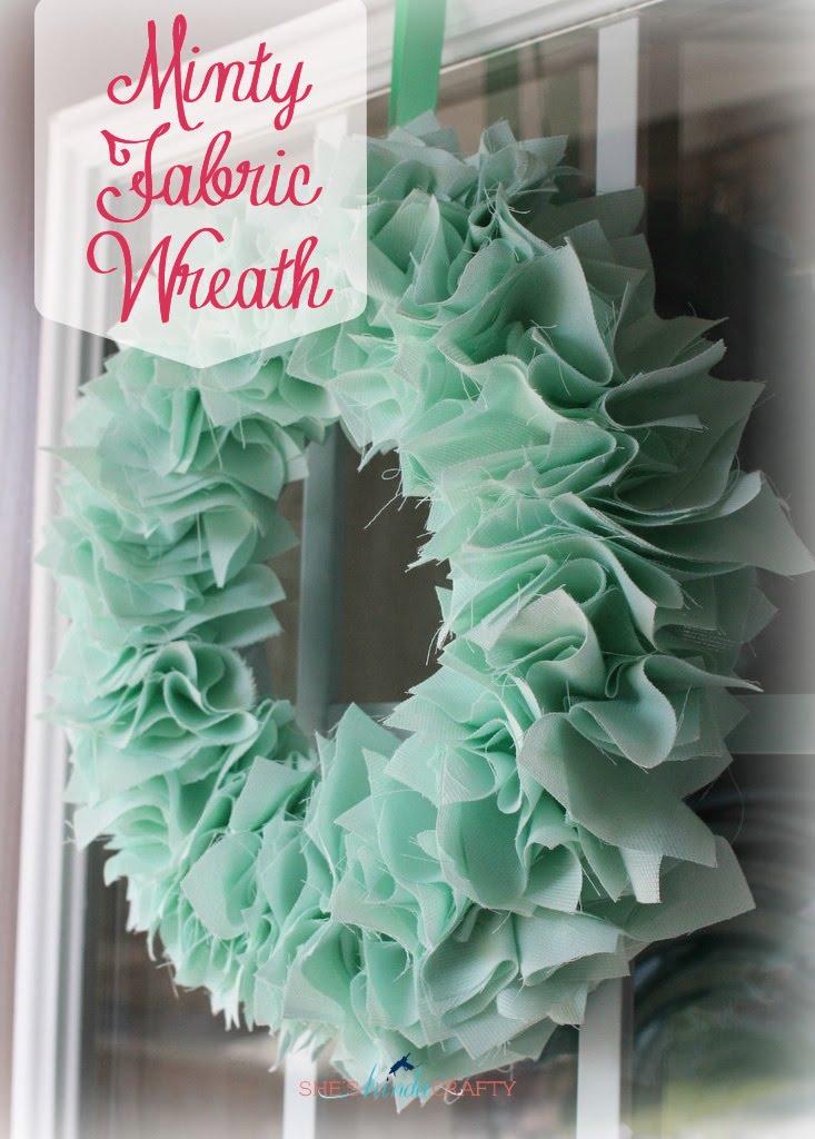 Mint Amp Turquoise Fabric Wreaths Shes Kinda Crafty