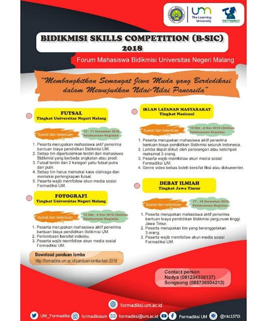 Event Lomba Bidikmisi Skill Competition 2018 Mahasiswa