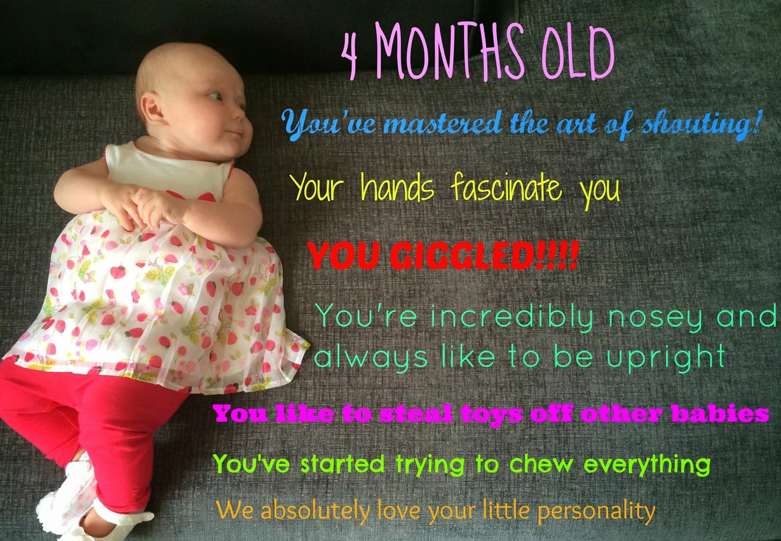 4 Months (16 Weeks) Old - Baby Update