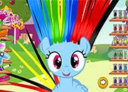 rainbow dash hair style rainbow dash hair salon juegos my pony jugar mi 6341