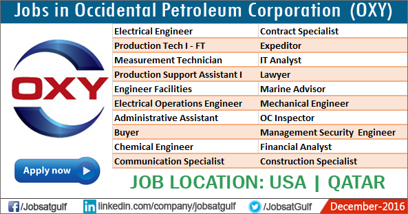 Engineering Jobs Occidental Petroleum Careers Jobs