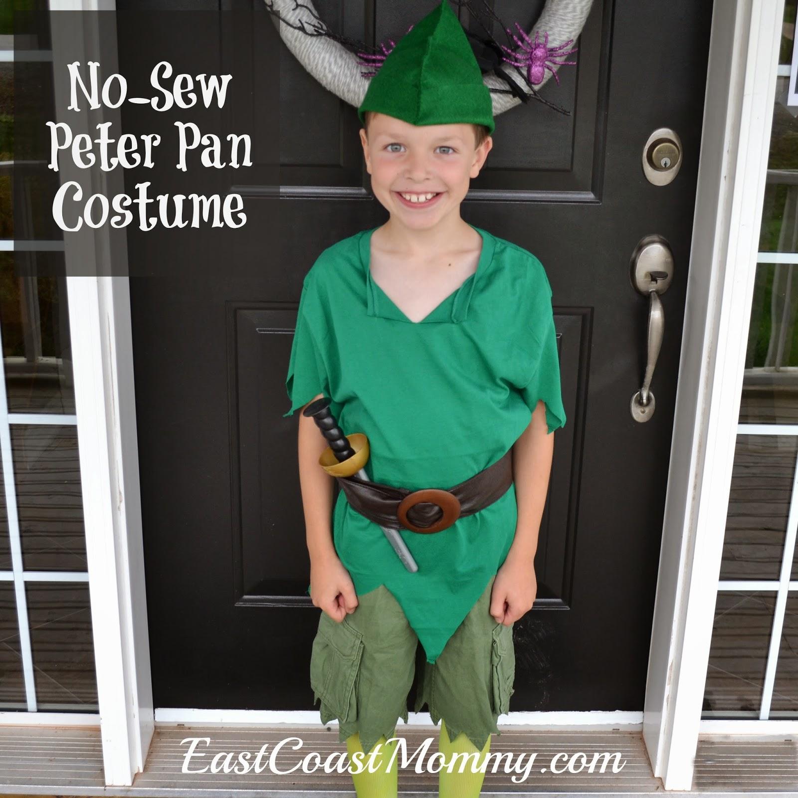 East Coast Mommy Diy Peter Pan Costume