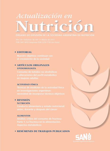 Revista de la Sociedad Argentina de Nutrición