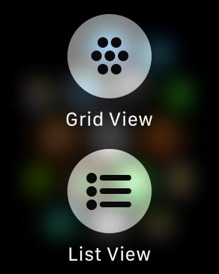 Modifica layout griglia applicazioni Apple Watch