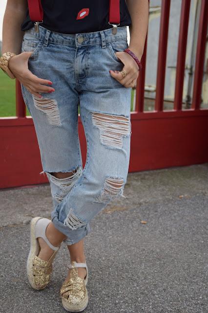 outfit jeans strappati come abbinare i jeans strappati outfit settembre 2016 outfit autunnali mariafelicia magno fashion blogger colorblock by felym web influencer italiani blogger italiane di moda fashion blogger italiane