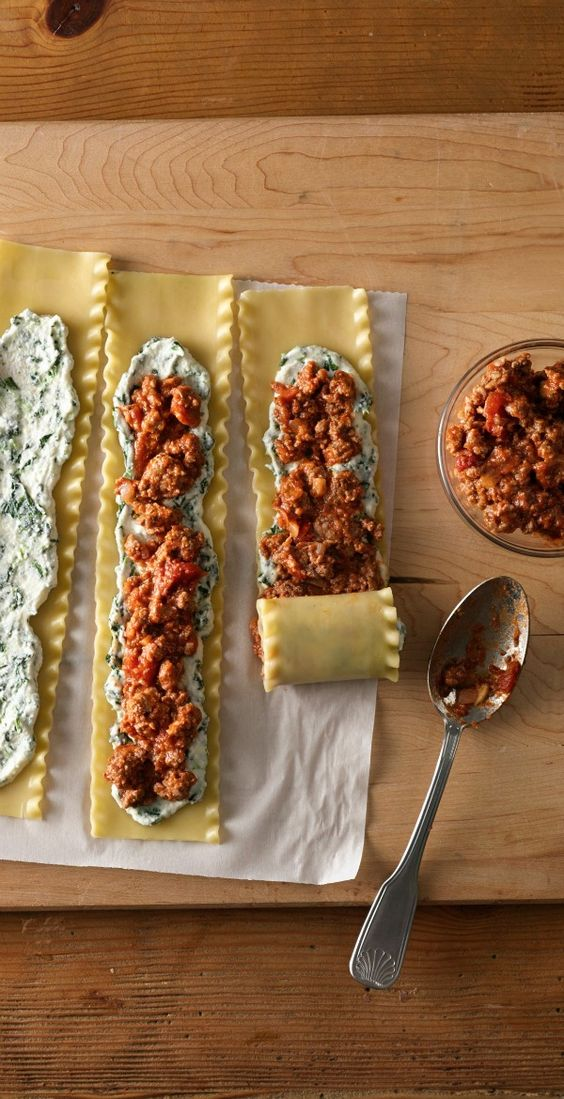Make a large batch of these meaty and cheesy lasagna rolls, and freeze them to help make quick dinners on busy days. Get a quick start by using Make-Ahead Seasoned Ground Beef and Sausage.