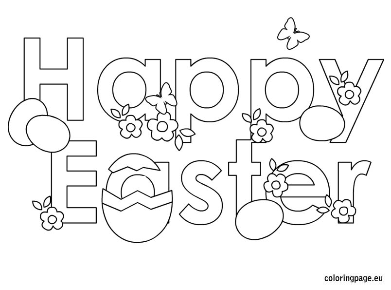 Cervantes in English: EASTER COLORING