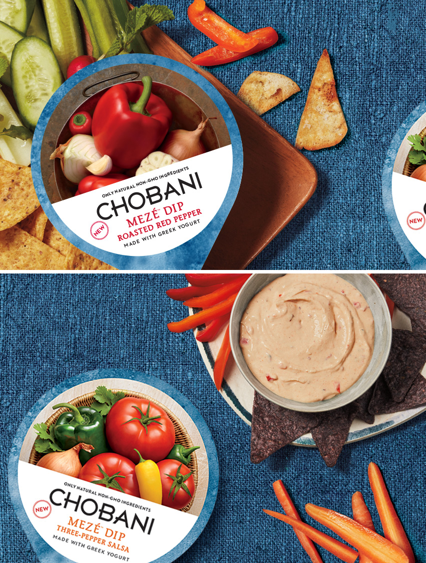 Chobani Meze Dips Appetizer Ideas - via BirdsParty.com