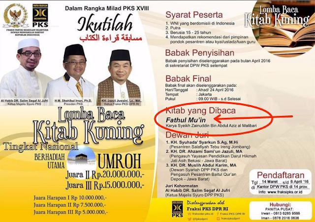Modus Politik PKS dan Lomba Kitab Kuning yang Asing bagi Kadernya