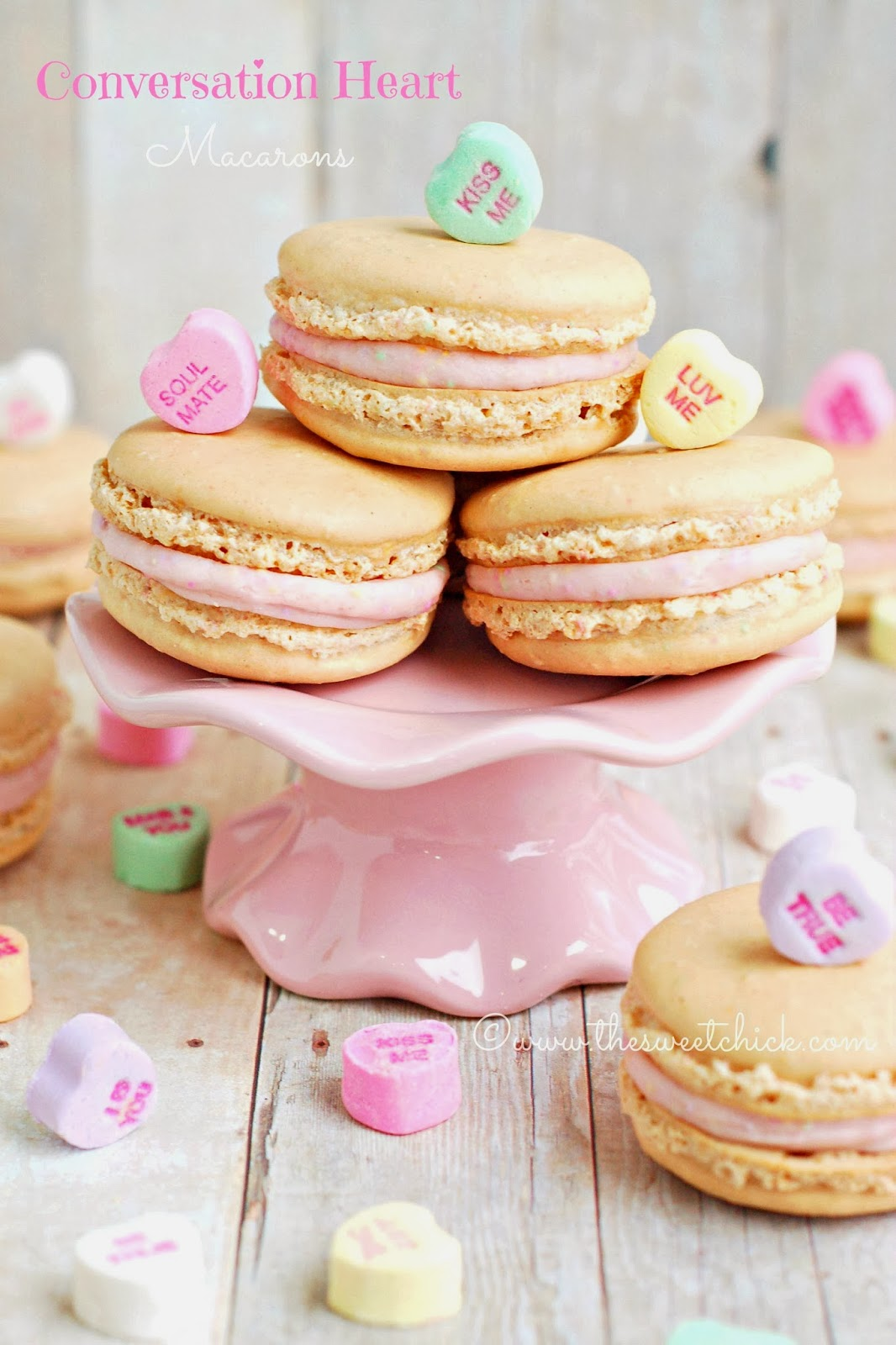 Conversation Heart Macarons by The Sweet Chick