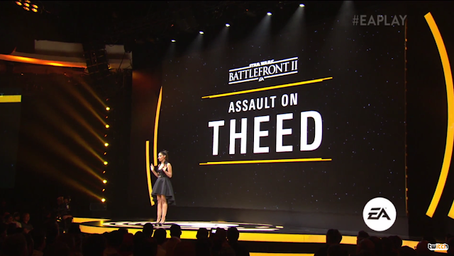 Star Wars Battlefront II Assault on Theed Janina Gavankar Electronic Arts DICE E3 2017 conference