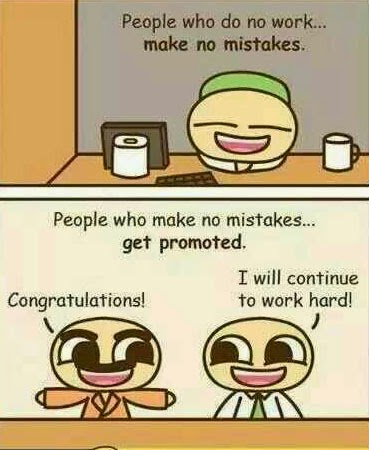 People who make no mistakes get promoted