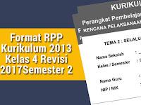 Format RPP Kurikulum 2013 Kelas 4 Revisi 2017