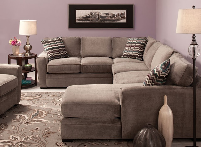 Raymour And Flanigan Living Room Ideas With Glamorous Microfiber Sectional Sofa