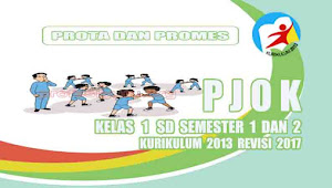 Prota dan Promes PJOK Kelas 1 SD Kurikulum 2013 Rev 2017