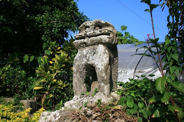 石彫魔除獅子の写真