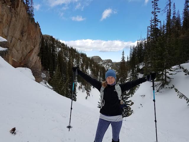Lisa Alcorn snowshoeing
