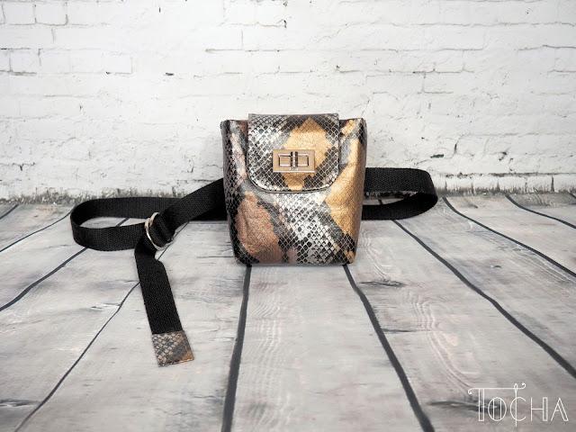 snakeskin, snake, Washpapa, washable paper, paper bag, vegan bag, hip-bag, purse, bum bag, waist bag, fanny bag, Marina Quilt, faux leather, vegan snakeskin, vegan purse,