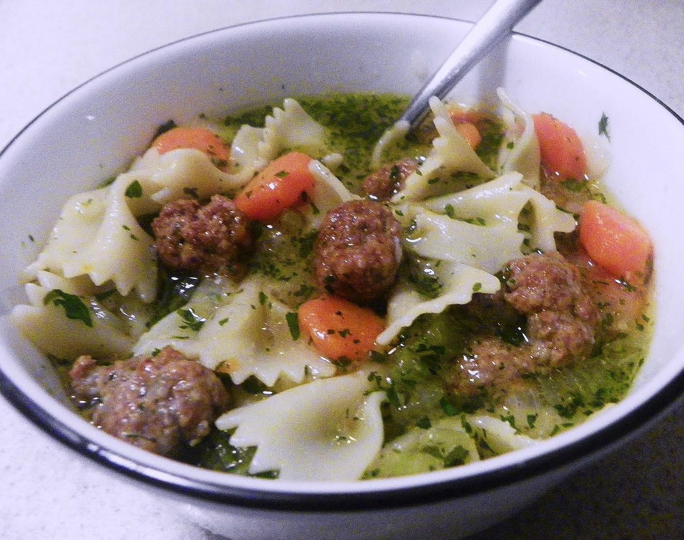 Italian Meatball Soup Recipe — Dishmaps