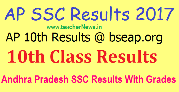 AP SSC Result 2017 AP 10th Results 2017 to be declared on May 6th @ bseap.org