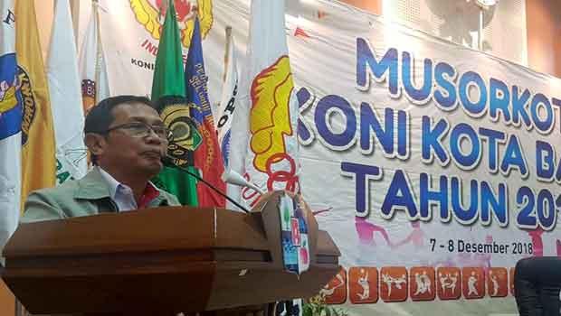 Mahfud Terpilih Ketua Umum KONI Batu 2018-2022