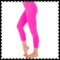 Style Athletics Workout Clothes Amazon Online Activewear Active Clothing Shop Crop Pants Leggings Yoga Hot Pink Looks like the Lululemon Wunder Under