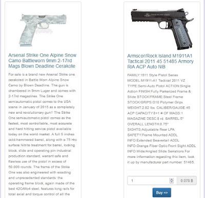 situs yang menjual berbagai senjata di dalam deep web