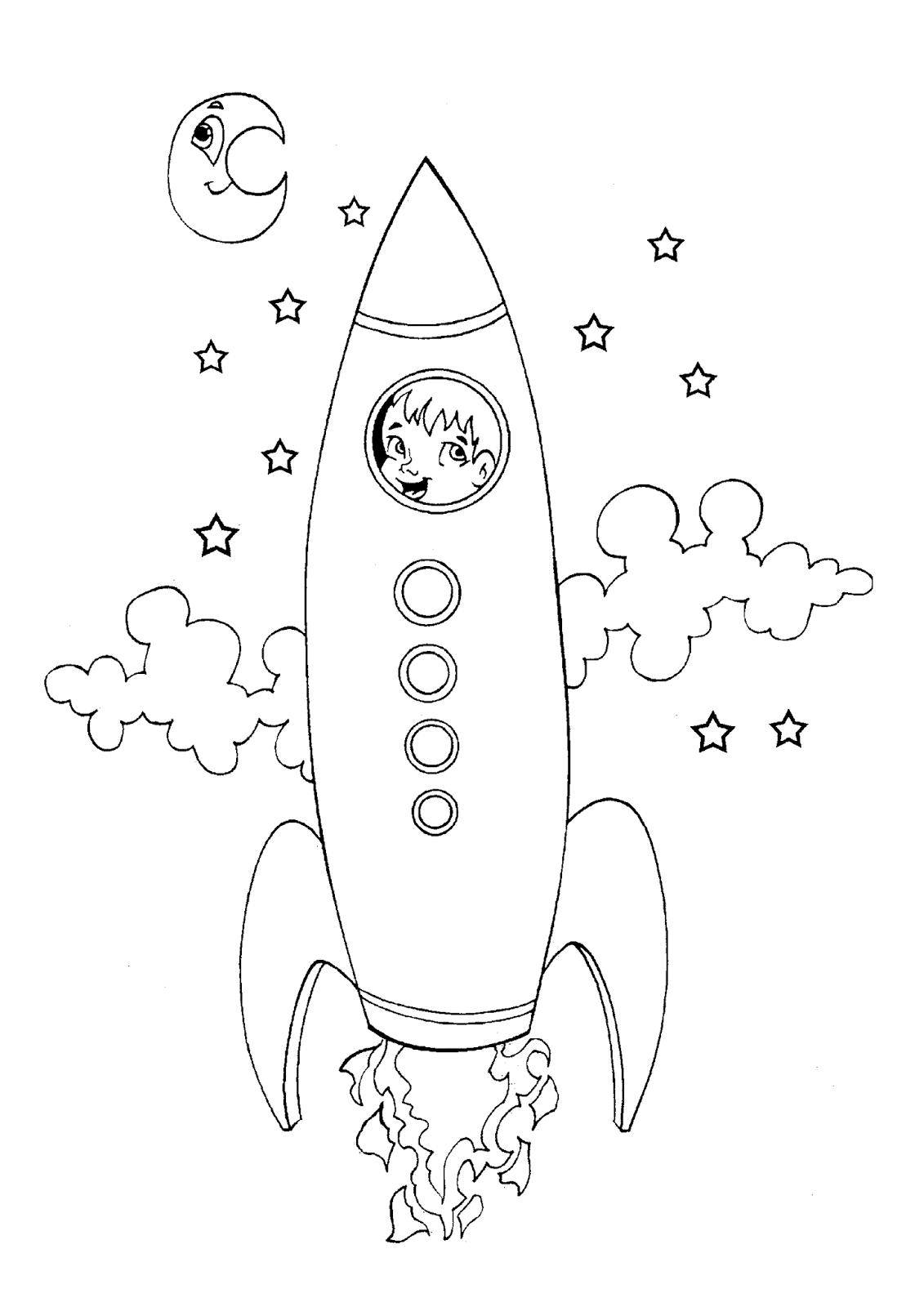 Desenhos Para Imprimir E Colorir De Foguetes So Escola