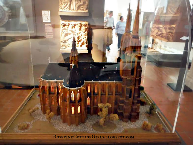 Model of a castle in Marburg Castle