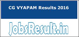 CG VYAPAM Results 2016
