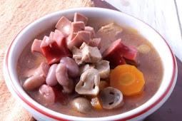 Sup Sosis Jamur Tomat