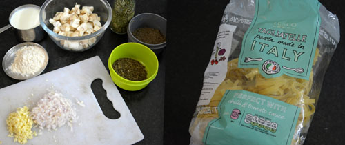 ingredients for mushroom pasta
