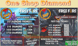 Oneshopdm Top Up Diamond Free Fire Termurah